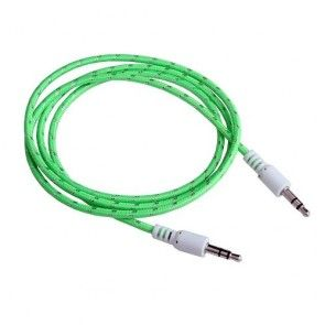 Male To Male Woven Fabric Cotton Aux Audio Cable