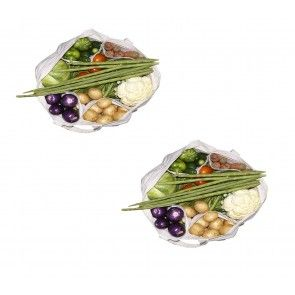 vegetables grocery bag with military pouch for systematic storage