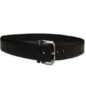 Man Brown Leather Belt