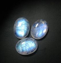 Natural Rainbow Moonstone Oval Cabochon gemstone