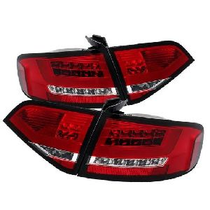 Audi A4 4d 08-12 LED Tail Lamp Euro Type Red Lens (Premium Car Accessories - DealKarDe)