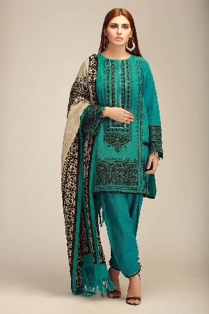 Ladies Khadi Suit Material 01