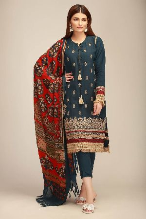 Ladies Khadi Suit Material 03