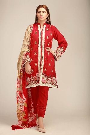 Ladies Khadi Suit Material 05