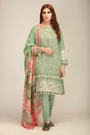 Ladies Khadi Suit Material 06
