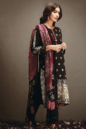 Ladies Khadi Suit Material 07