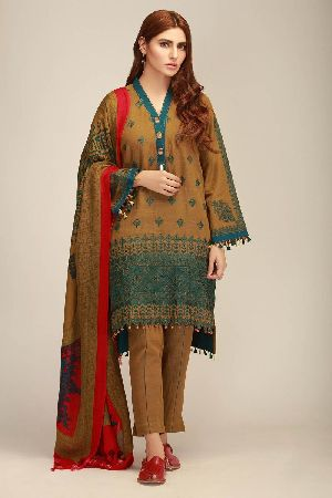 Ladies Khadi Suit Material 08