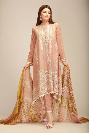Ladies Khadi Suit Material 09