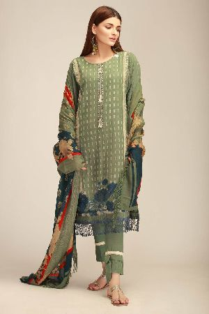 Ladies Khadi Suit Material 11