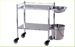 DRESSING TROLLEY WITH SS BOWL