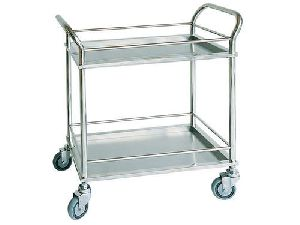 INSTRUMENTS TROLLEY STAINLESS STEEL