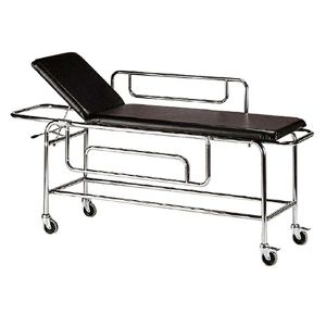STRETCHER TROLLEY STAINLESS STEEL WITH SIDE RAILS