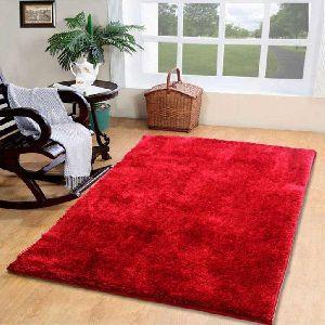 4 x 6 Feet Double Shade Red 3D Shaggy Carpet