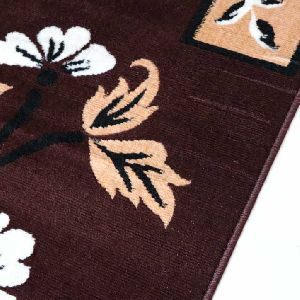 Classy Modern Collection Viscose Floral Carpet 02