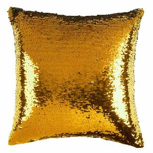 Gold & Silver Sequin Cushion Cover With Filler 05