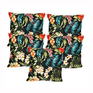 Polyester Floral Print Cushion Covers & Filler 01