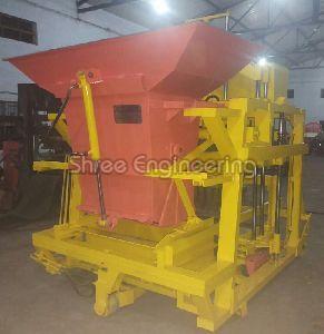 860mm Five Vibrator Auto Feeder Double Stroke Concrete Block Making Machine with Hooper