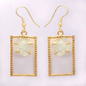 18k Gold Plated Aquamarine Earrings For Women