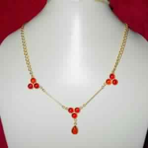 24k Gold Vermeil Carnelian Gemstone Necklace