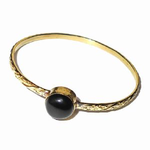 Black Onyx Gemstone Stack Bangle