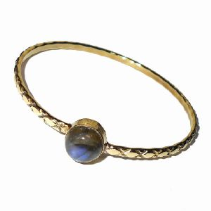 Gold Vermeil Labradorite Gemstone Bangle