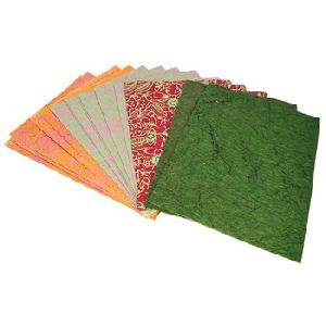 assorted color handmade papers