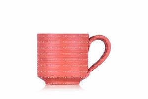 RIBBED CYLINER CUP WITH HANDLE