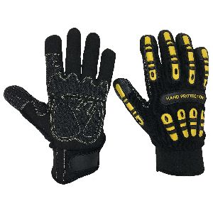 Cut 5 Gloves,Impact Gloves/Cut 5 TPR Mechanic Gloves for Oil and Gas,Oil and Gas Gloves
