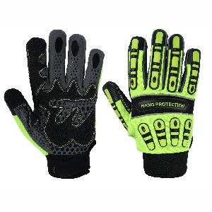 Top Quality TPR Impact Protective Mechanic Gloves for Oil and Gas, Impact Gloves/Non-Slip Gloves