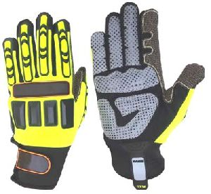 TPR Gloves oil Field / Impact Gloves / Impact Protective Mechanic Gloves for Oil and Gas Industries / Non-Slip Gloves
