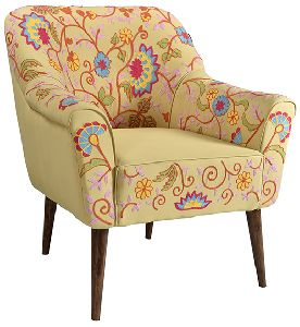 Embroidery Provincial Wooden Carving Armchair