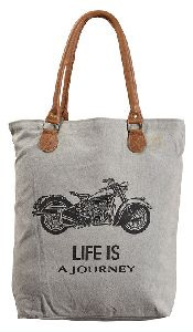 Indian Cotton Printed Canvas Tote Bag