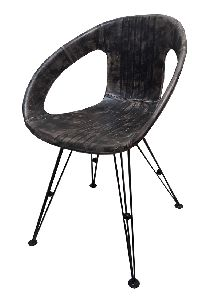 Industrial Comfortable Leather Round Seat Leisure Chair,