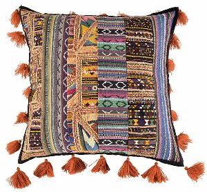 Kachachi taka Patchwork Cushion Cover