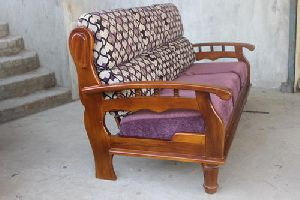Natural Teak Wood Sofa Set