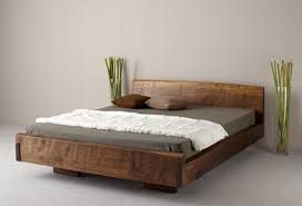 Natural Wooden Bed
