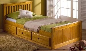 Sagwan Wood  Bed