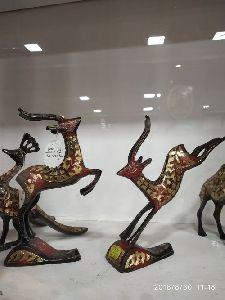 Brass Deer Statues