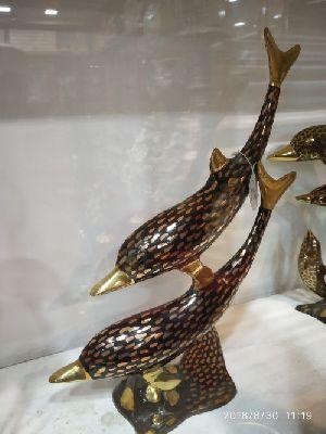 Brass Fish Statue 02