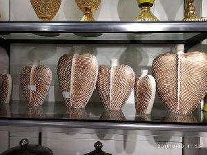 Brass Leaf Shaped Vase