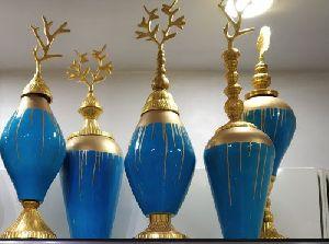 Brass Printed Vase 08