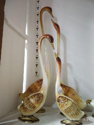 Brass Swan Statue 04