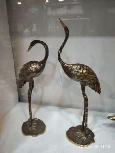 Brass Swan Statues