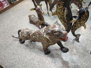 Brass Tiger Statues