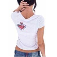 Ladies Spandex White T-Shirts