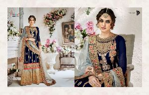faux georgette fabric,Embroidery workSalwar Kameez Suits Dress Material
