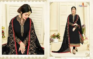 Georgette fabric, Embroidery work Salwar Kameez Suits Dress Material