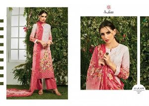 Harshi sudhatri Lawn fabric Embroidery Print work Salwar Kameez Suits