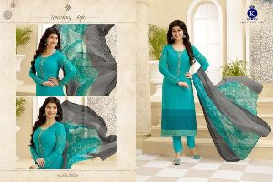 Silky Vol 96 Crape Embroidery Designer Dress Material