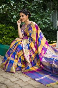 Blue Kanchipuram Silk Sarees